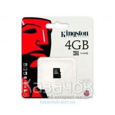 Карта памяти MicroSDHC 4 GB Kingston + No Adapter