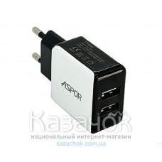 Сетевое зарядное устройство Aspor A811 2.1A