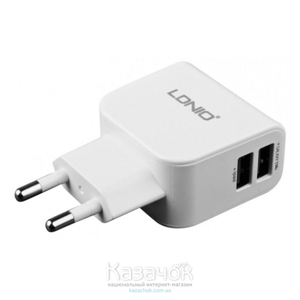 Сетевое зарядное устройство DL-AC56 2 USB (2,1A), LDNIO