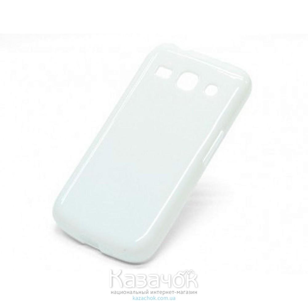 Силиконовая накладка Samsung G350 White