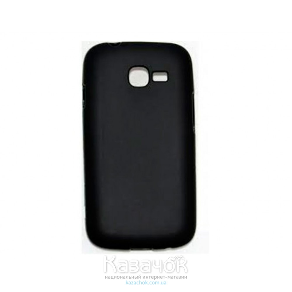 Силиконовая накладка Samsung s7262 Black