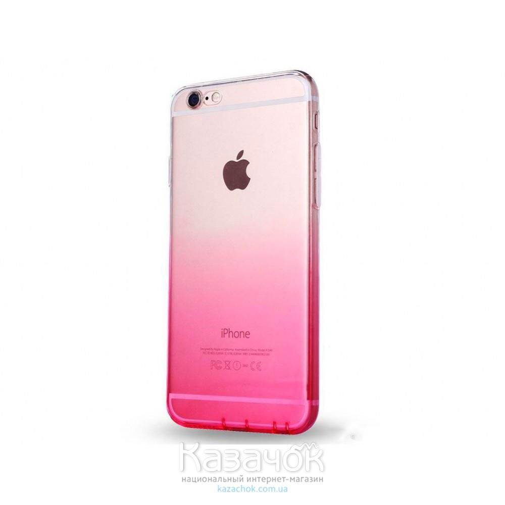 Силиконовая накладка iPhone 6/6S Gradient Pink/White