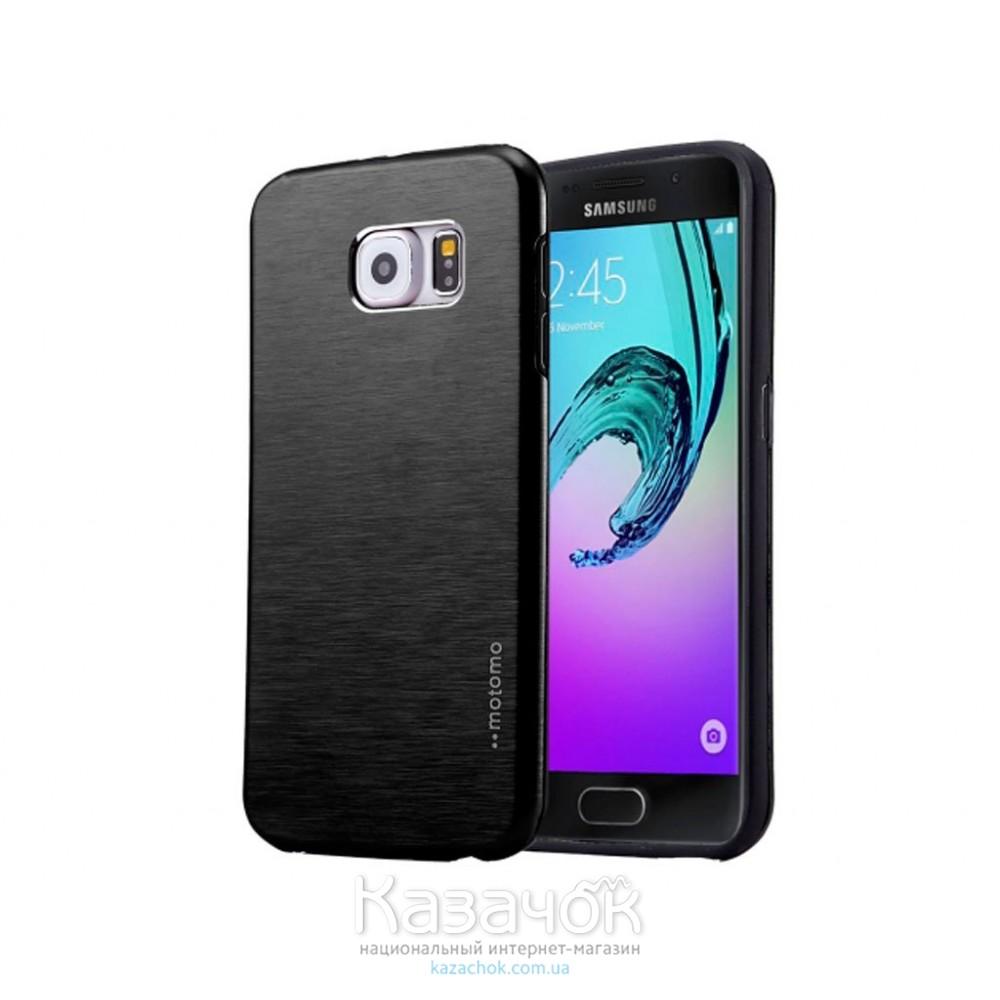 Силиконовая накладка Samsung A5 A510 Motomo Metal Black