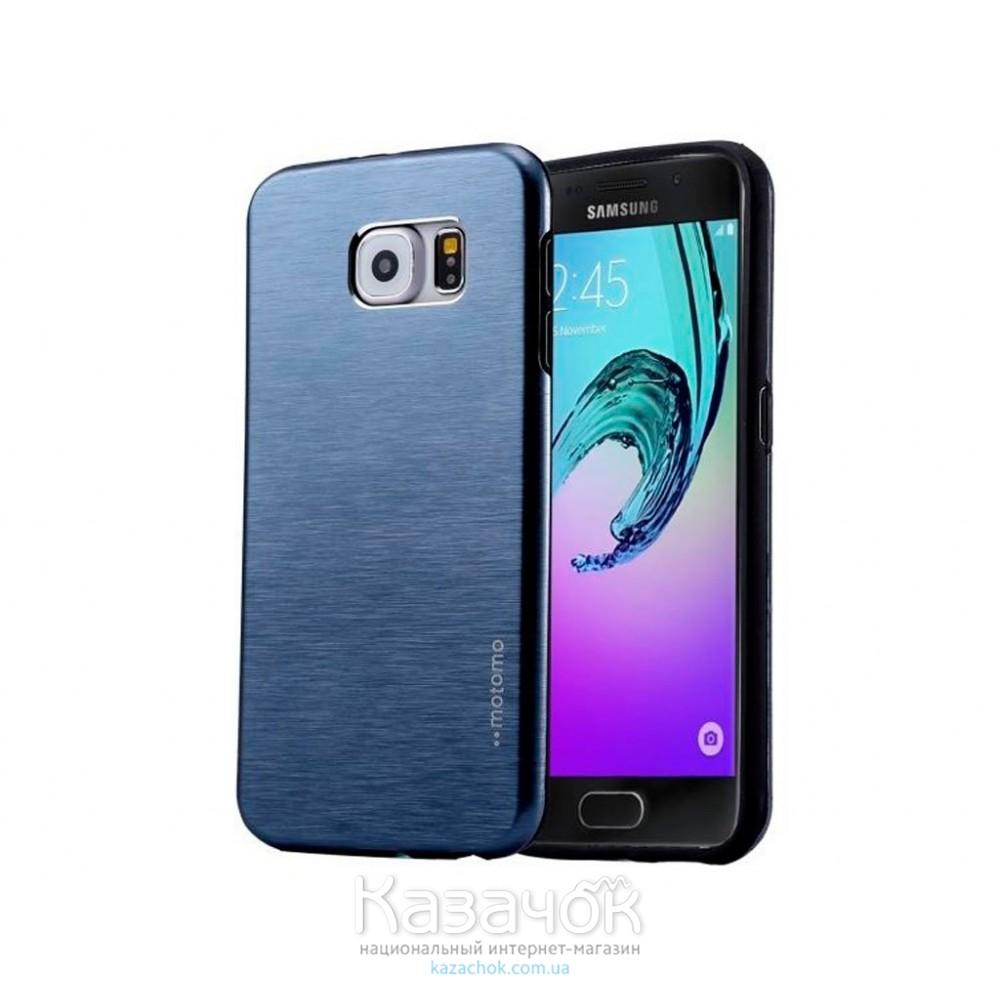 Силиконовая накладка Samsung A5 A510 Motomo Metal Blue
