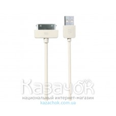 USB кабель Remax 30-pin Light Speed Series 1m White