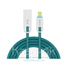 USB кабель Rock Cobblestone Round Lightning Green