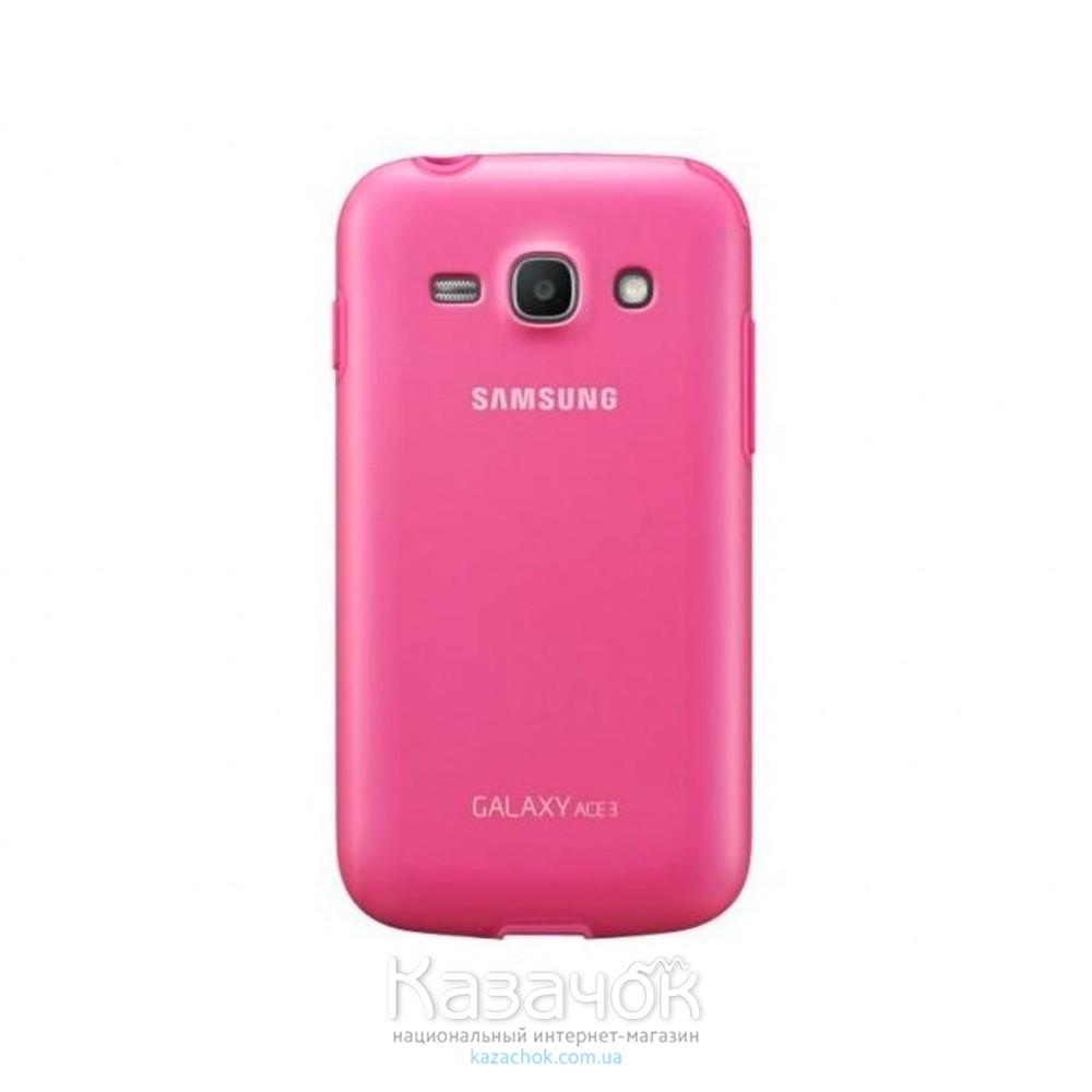 Силиконовая накладка Samsung s7272 Pink