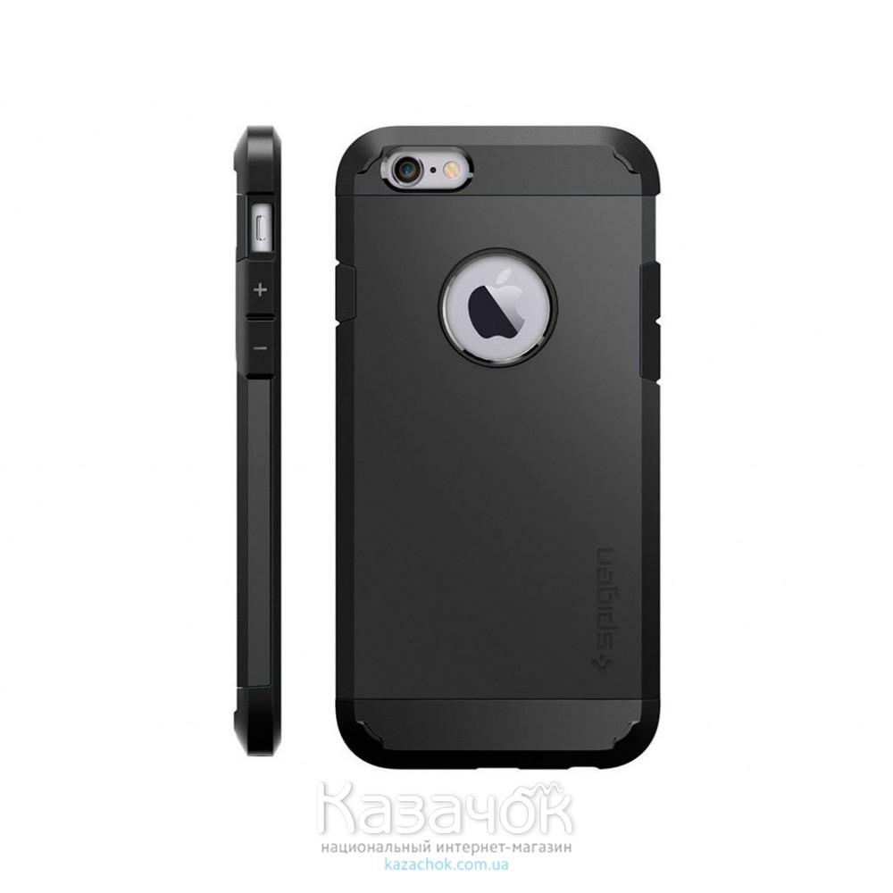 Пластиковая накладка iPhone 6/6S Spigen Touch Armor Black