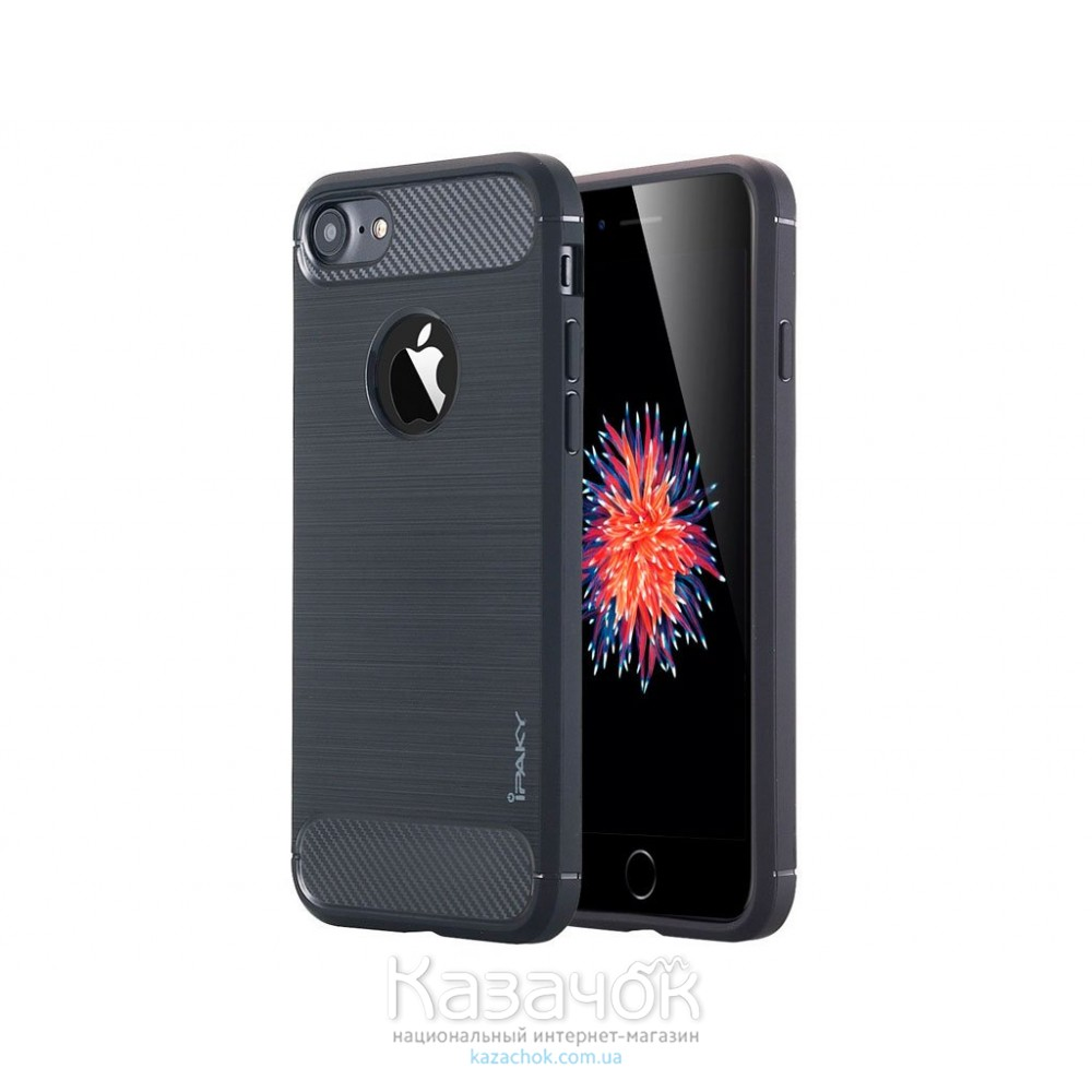 Силиконовая накладка iPaky Shockproof Lasi Series iPhone 7 Black