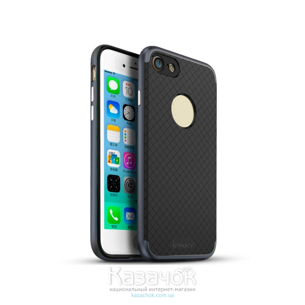 Силиконовая накладка iPaky TPU+PC iPhone 7 Plus Gray