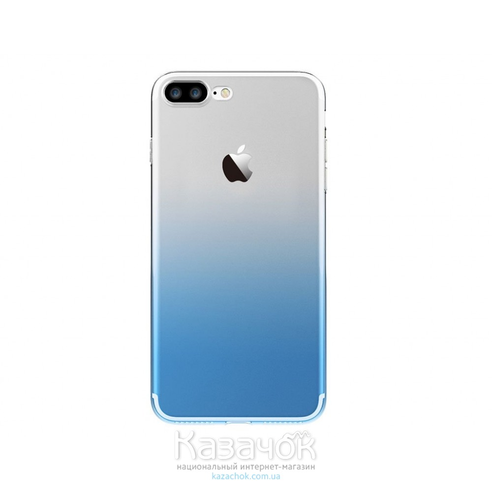 Силиконовая накладка Fshang Q Colour series iPhone 7 Gradient Blue