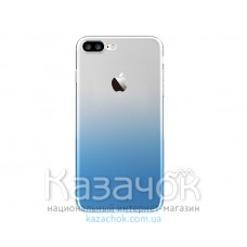 Силиконовая накладка Fshang Q Colour series iPhone 7 Gradient Blue