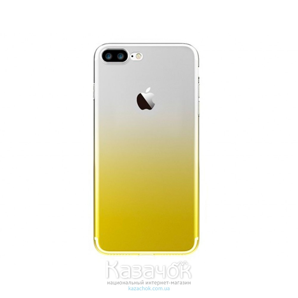 Силиконовая накладка Fshang Q Colour series iPhone 7 Gradient Yellow
