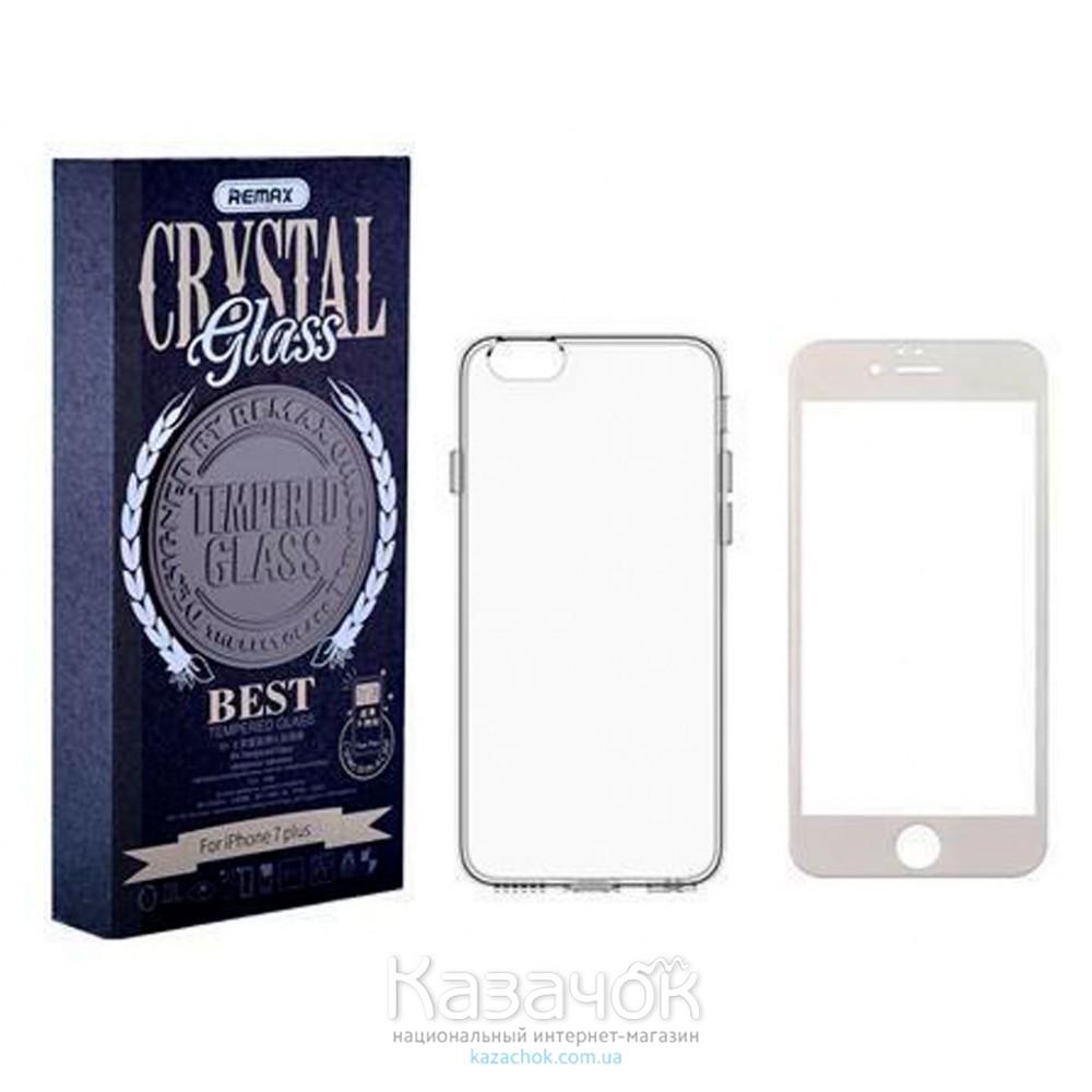Силиконовая накладка Remax Crystal Set iPhone 6 White (стекло + чехол)