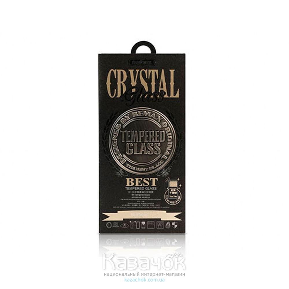Силиконовая накладка Remax Crystal Set iPhone 6 Black (стекло + чехол)