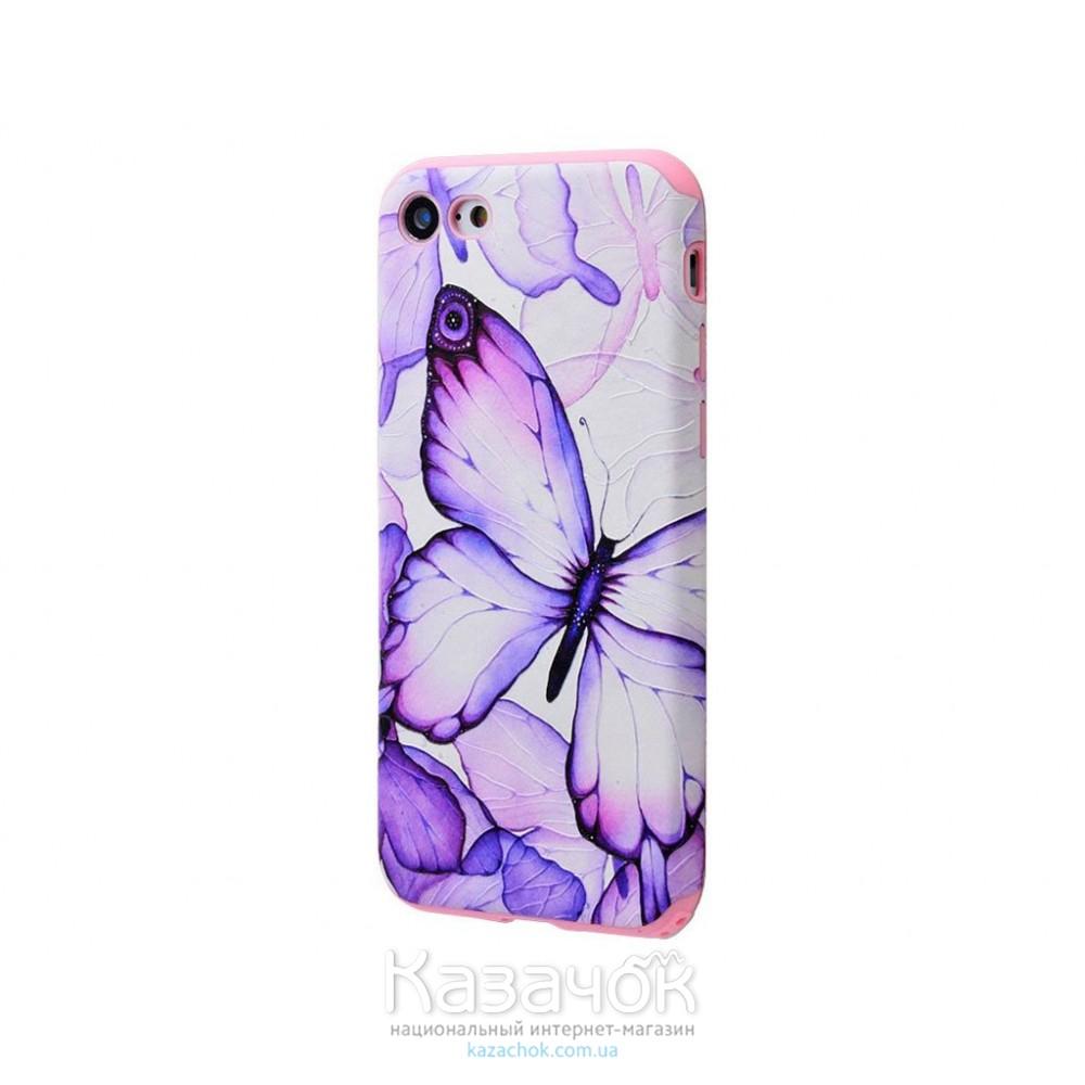 Силиконовая накладка iPhone 7 My Colors Flowers Butterfly