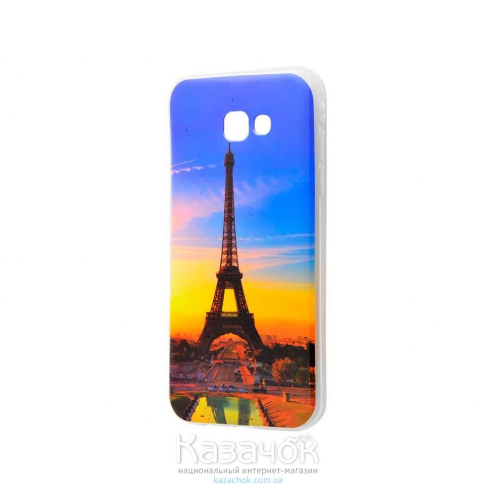 Силиконовая накладка Samsung A5 A520 IMD Eiffel Tower