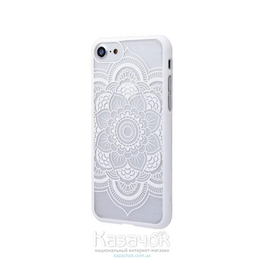 Пластиковая накладка iPhone 7 Luoya Soft Touch Lotos White