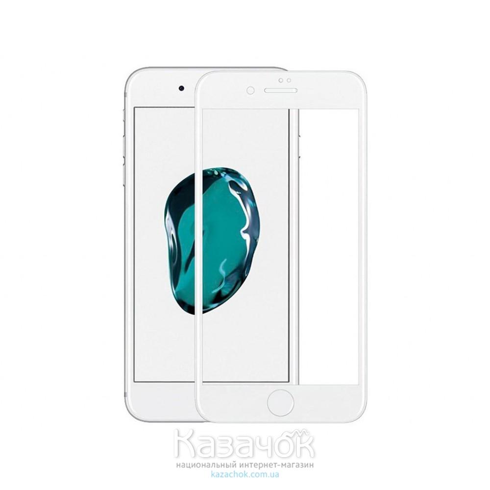 Защитное стекло iPhone 7 Plus 4D White