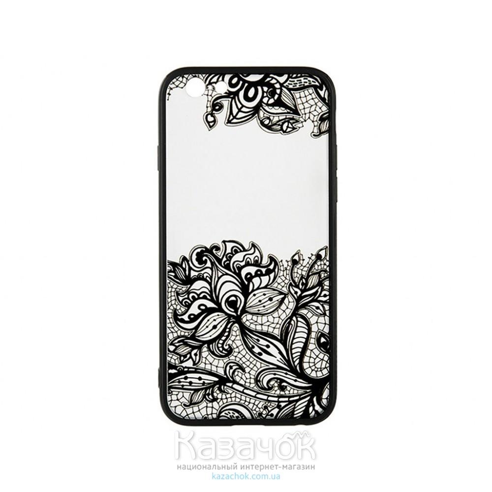 Пластиковая накладка iPhone 5/5S/SE Rock Tatoo Art Fantasy Flowers