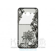 Пластиковая накладка Samsung A5 A520 Rock Tatoo Art Magic Flowers