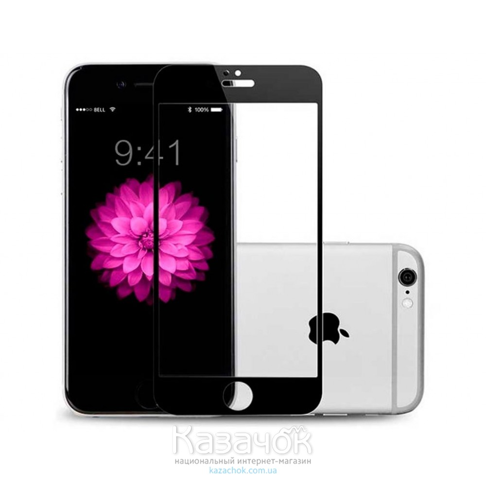 Защитное стекло iPhone 6/6S Baseus 0.23 PET Soft 3D Black