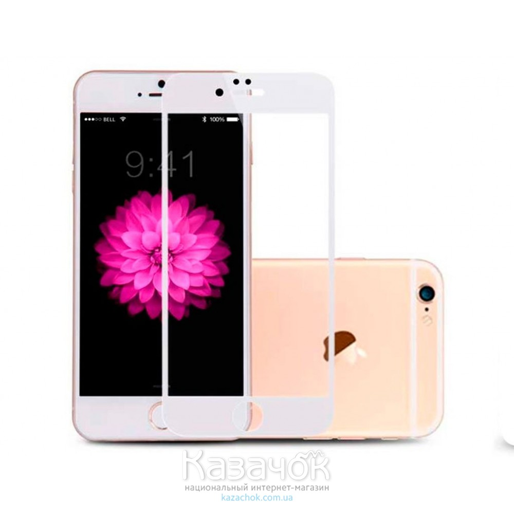 Защитное стекло iPhone 6/6S Baseus 0.23 PET Soft 3D White