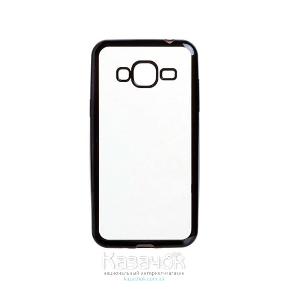 Силиконовая накладка Samsung J1 J120 Electroplating Black