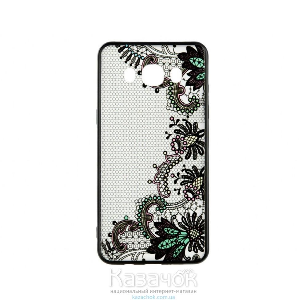 Пластиковая накладка Samsung A3 A320 Rock Tatoo Art Color Flowers