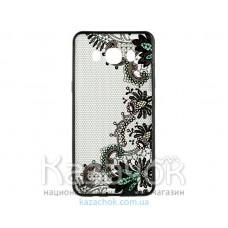 Пластиковая накладка Samsung J2 Prime G532 Rock Tatoo Art Color Flowers