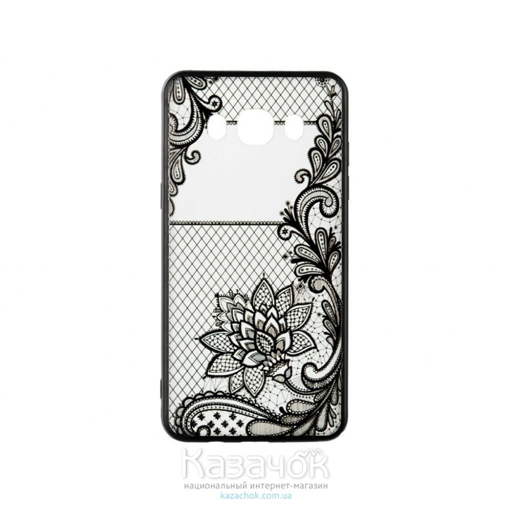 Пластиковая накладка Samsung J3 J320 Rock Tatoo Art Magic Flowers