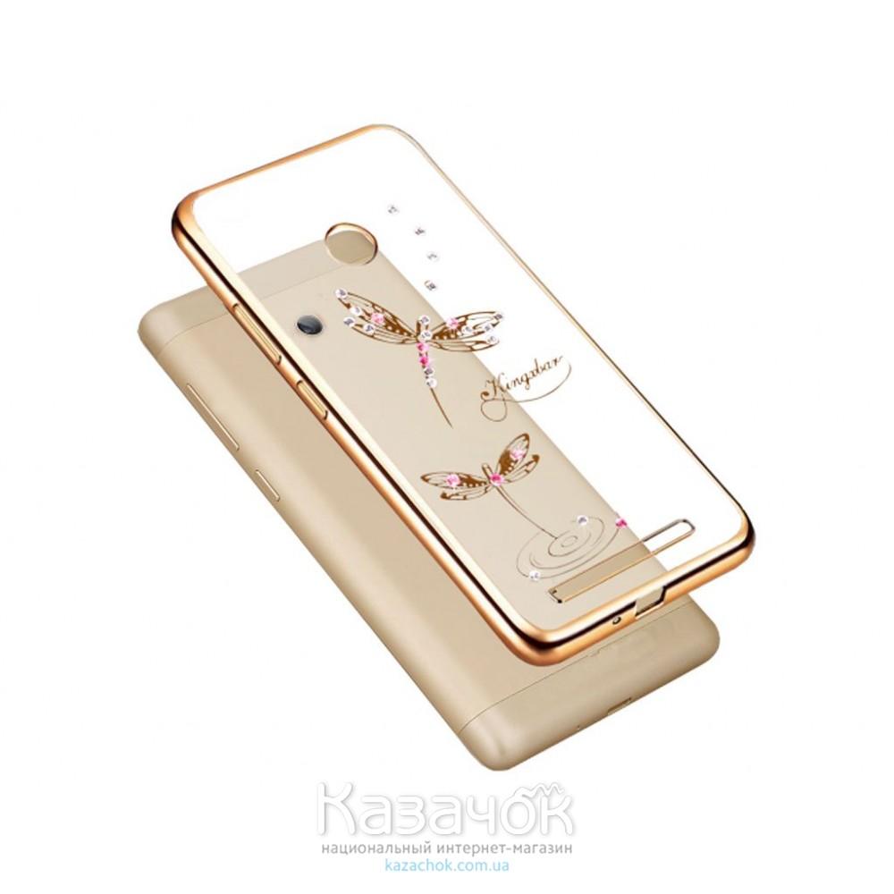 Силиконовая накладка Samsung J5 J530 Beckberg Breathe Series Gold Dragonfly