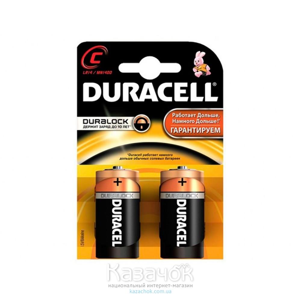 Батарейка Duracell С/LR14/MN1400 KPN 02*10 2 шт.
