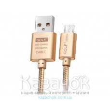USB-кабель Golf GC-10m Metal Micro USB Gold