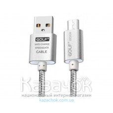 USB-кабель Golf GC-10m Metal Micro USB Silver