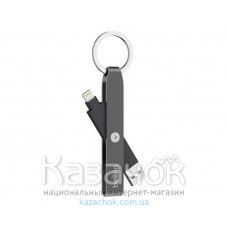 USB-кабель BELKIN USB 2.0 Lightning Charge KEYCHAIN Gray (F8J172btGRY)