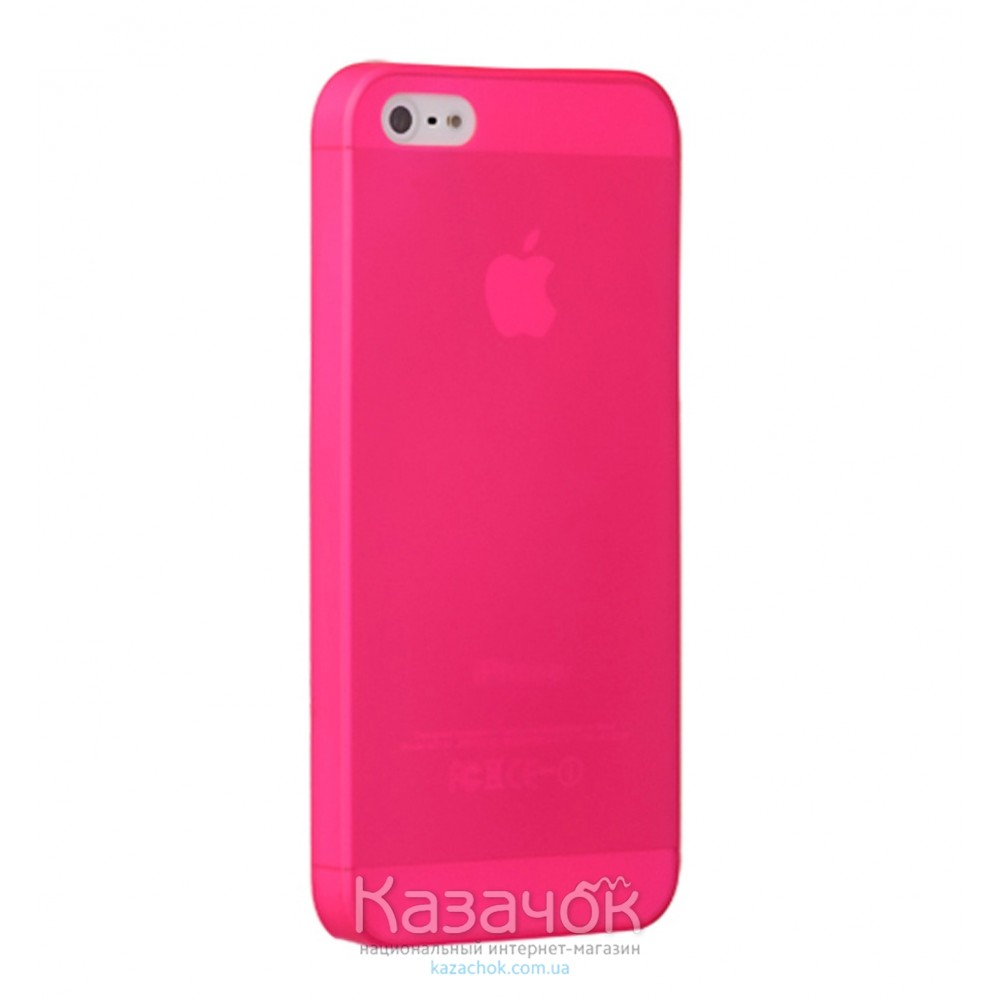 Чехол Ozaki O!coat 0.3 Jelly iPhone 5/5S Pink (OC533PK)