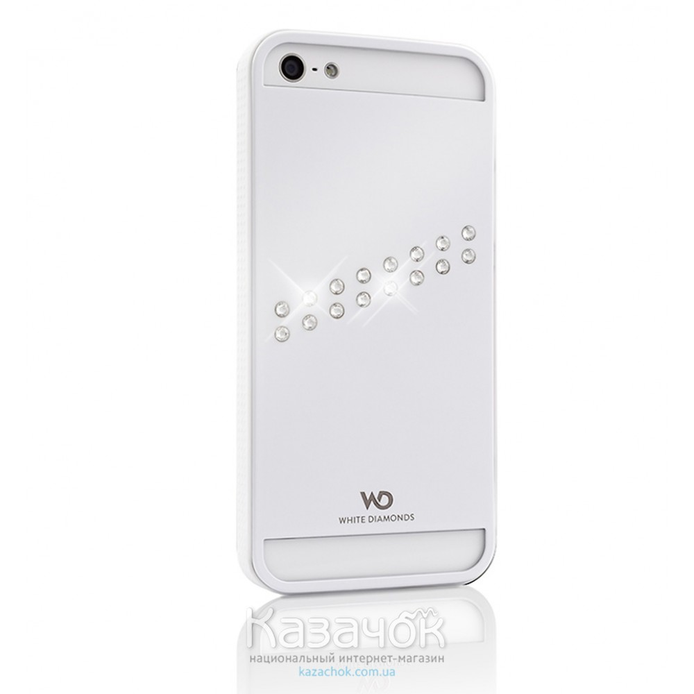 Чехол White Diamonds Materialized Metal Stream iPhone 5/5S White (1210MMSTR47)