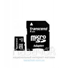Transcend microSDHC 4GB Class 4 + SD Adapter