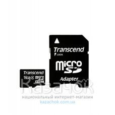 Transcend microSDHC 16GB Class 4 + SD Adapter