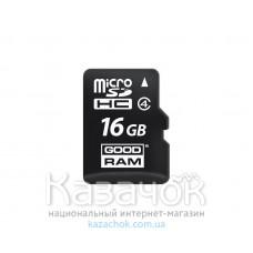 Карта памяти MicroSDHC 16GB Class 4 GOODRAM (M400-0160R11)