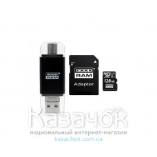 Карта памяти Goodram MicroSDXC 64GB Class 10 UHS-I SD-adapter+Card reader Type-C (M1A5-0640R11)