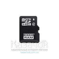 Карта памяти MicroSDHC 4GB Class 4 GOODRAM (M400-0040R11)