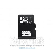 Карта памяти MicroSDHC 8GB Class 4 GOODRAM (M400-0080R11)