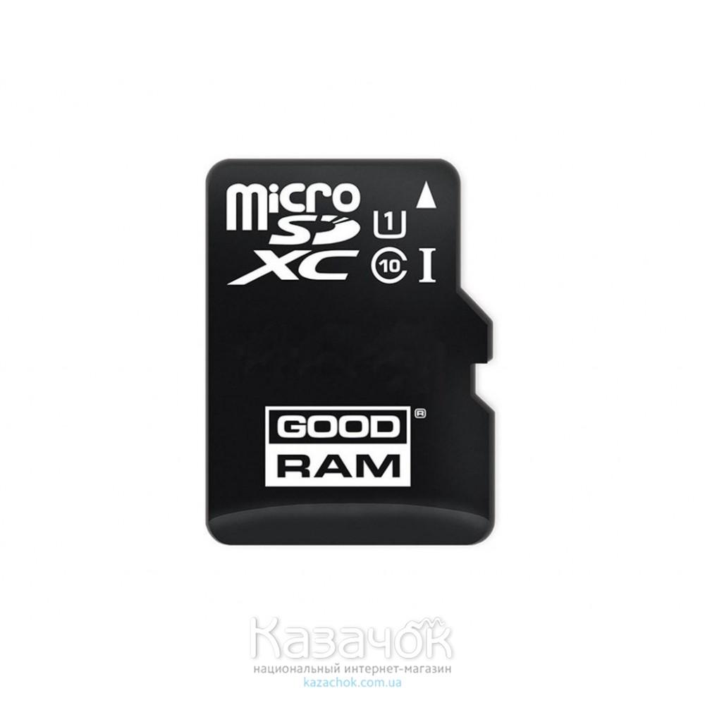 Карта памяти MicroSDXC 64GB UHS-I Class 10 GOODRAM + SD-adapter (M1AA-0640R11)