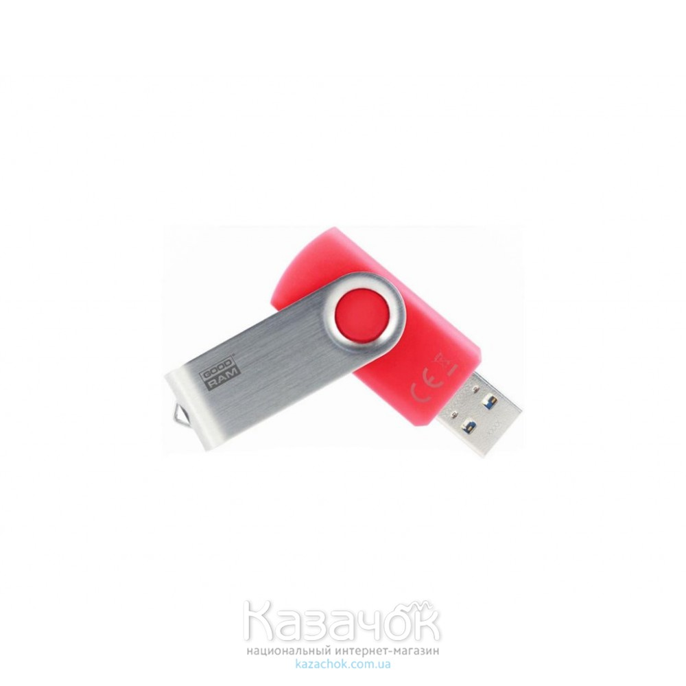 USB Flash GOODRAM 64GB 3.0 Twister Red (UTS3-0640R0R11)