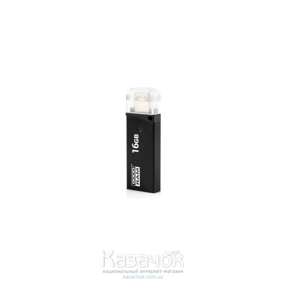 USB Flash OTG GOODRAM OTN3 16 GB Twin Black (OTN3-0160K0R11)