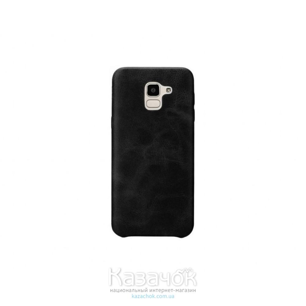 Кожанная накладка T-PHOX Samsung J4 2018/J400 Vintage Black