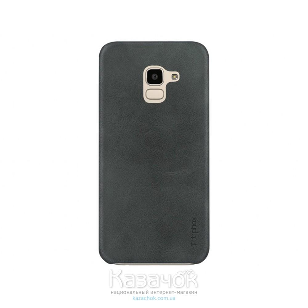 Кожанная накладка T-PHOX Samsung J6 2018/J600 Vintage Black