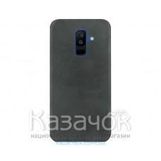 Кожанная накладка T-PHOX Samsung A6 Plus 2018/A605 Vintage Black